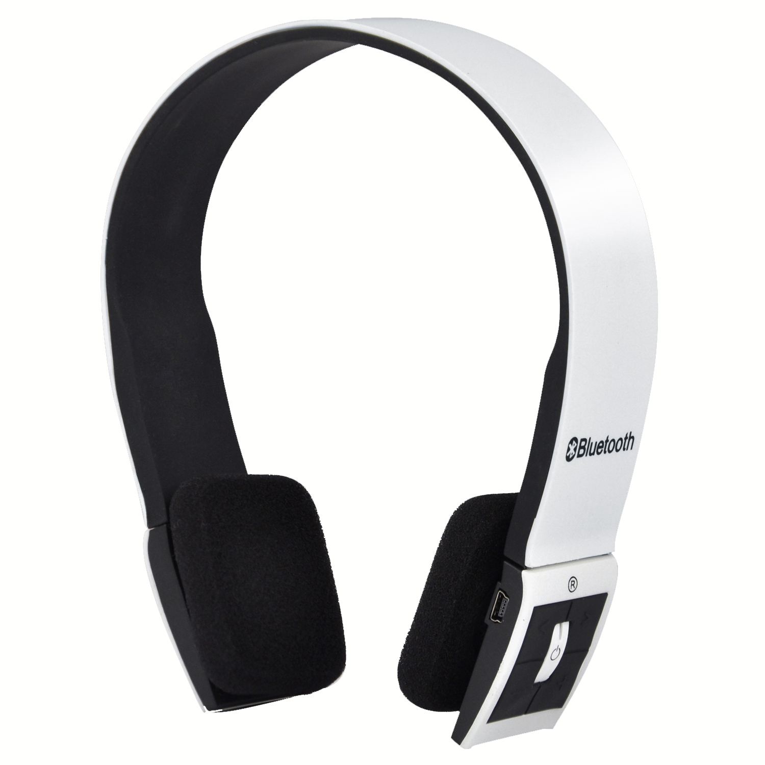 trixes bluetooth wireless headset headphones with call mic microphone white ebay. Black Bedroom Furniture Sets. Home Design Ideas
