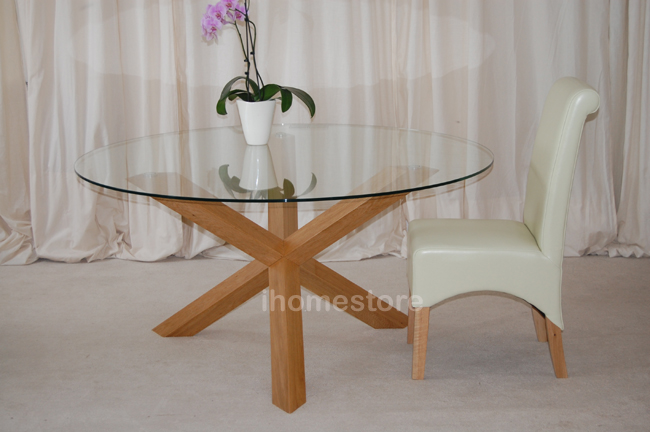Trio 5quot SOLID OAK GLASS ROUND DINING TABLE FURNITURE eBay : trio15m05 from ebay.co.uk size 650 x 432 jpeg 231kB