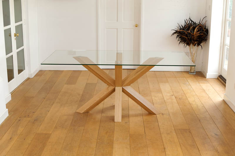 Details About Venice 6ft X 3FT SOLID OAK GLASS DINING TABLE amp 6 CHAIRS