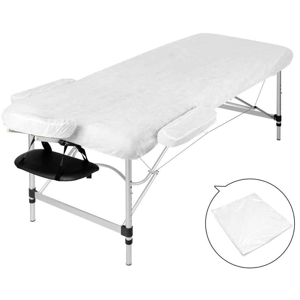 Portable Aluminium 3 Fold Massage Table Chair Bed Black