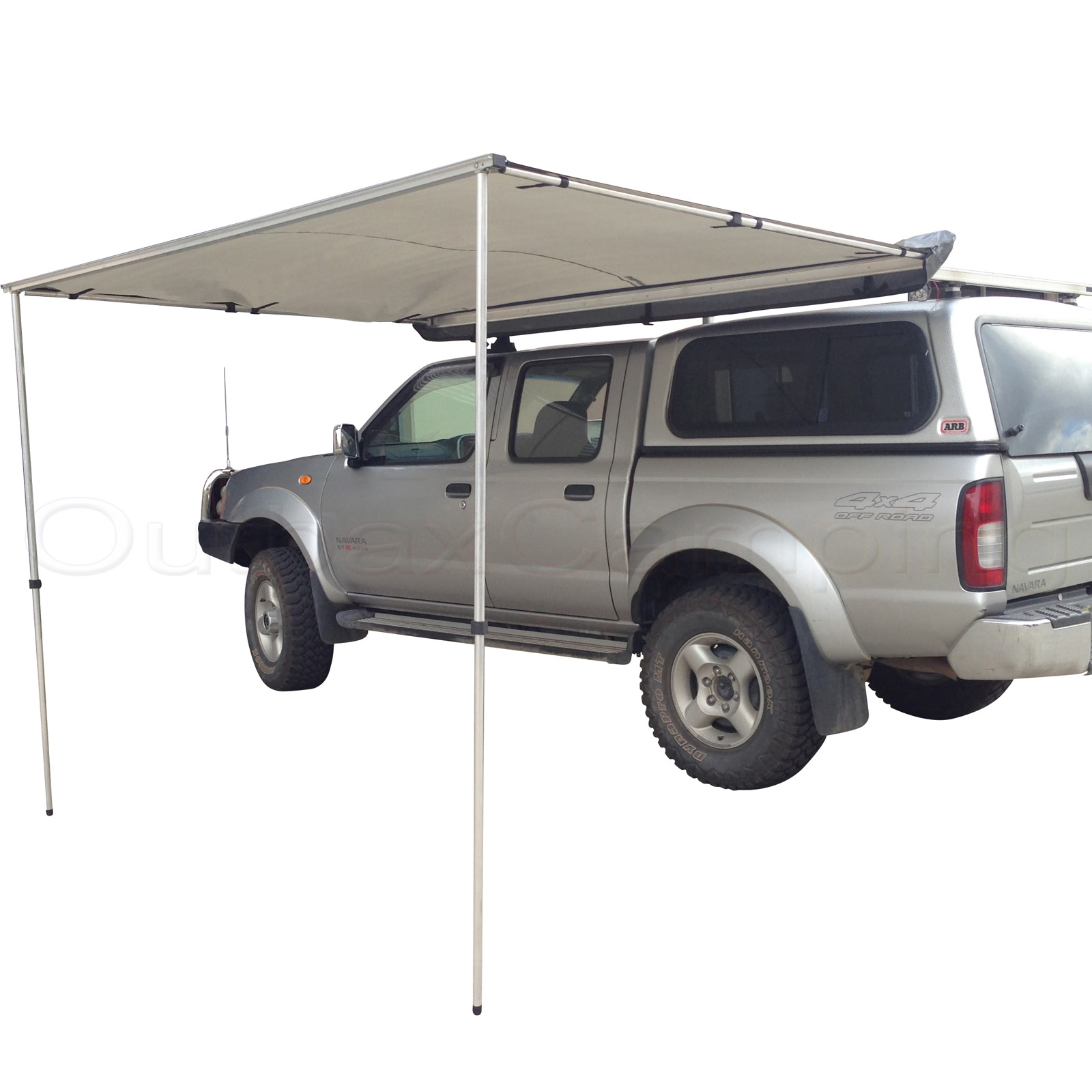 2.5M AWNING ROOF TOP TENT CAMPER TRAILER 4WD 4X4 SIDE CAMPING CAR RACK Pull Out