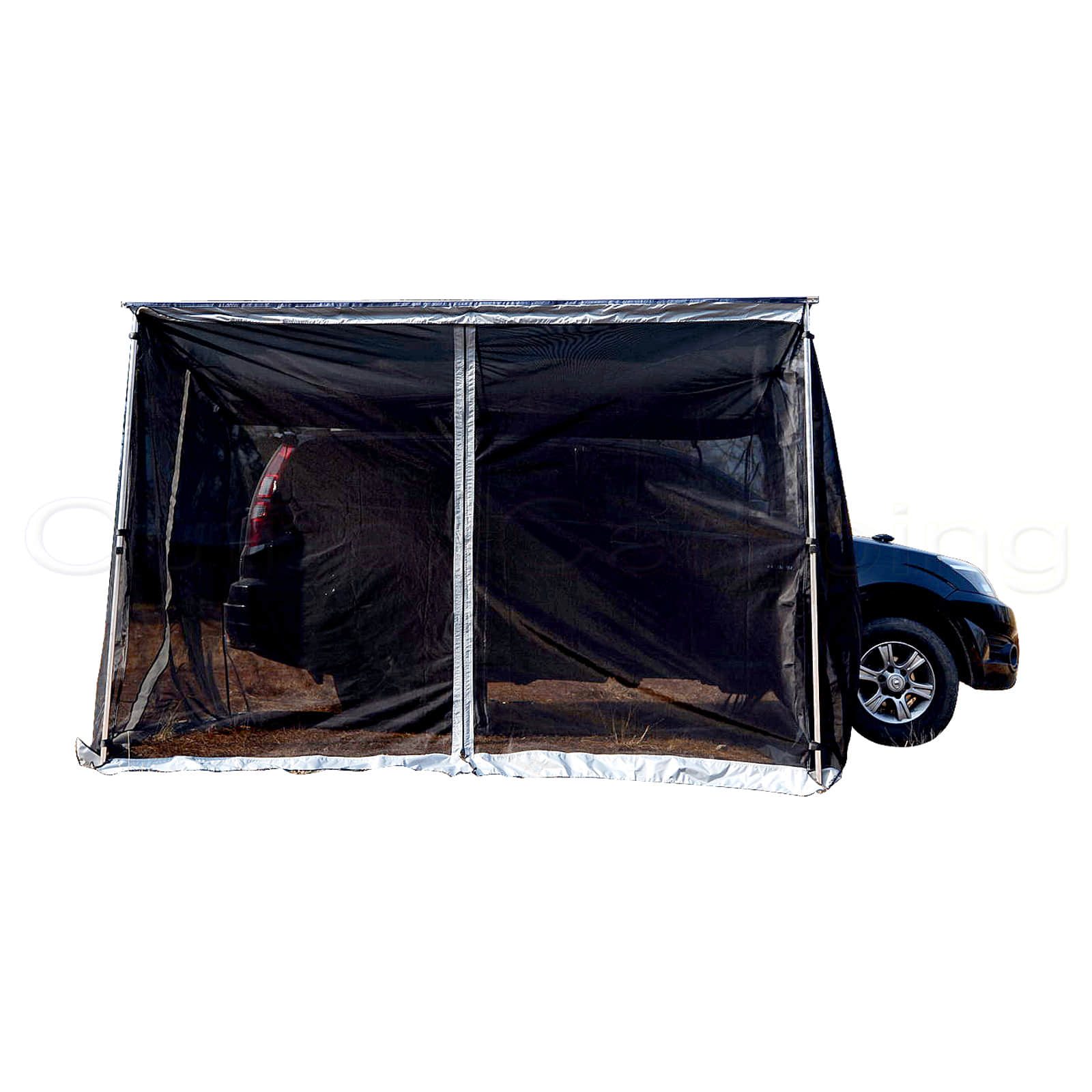 New 4wd Mosquito Net Mesh Car Side Awning 2m x 2m Tent Outdoor Camper Trailer