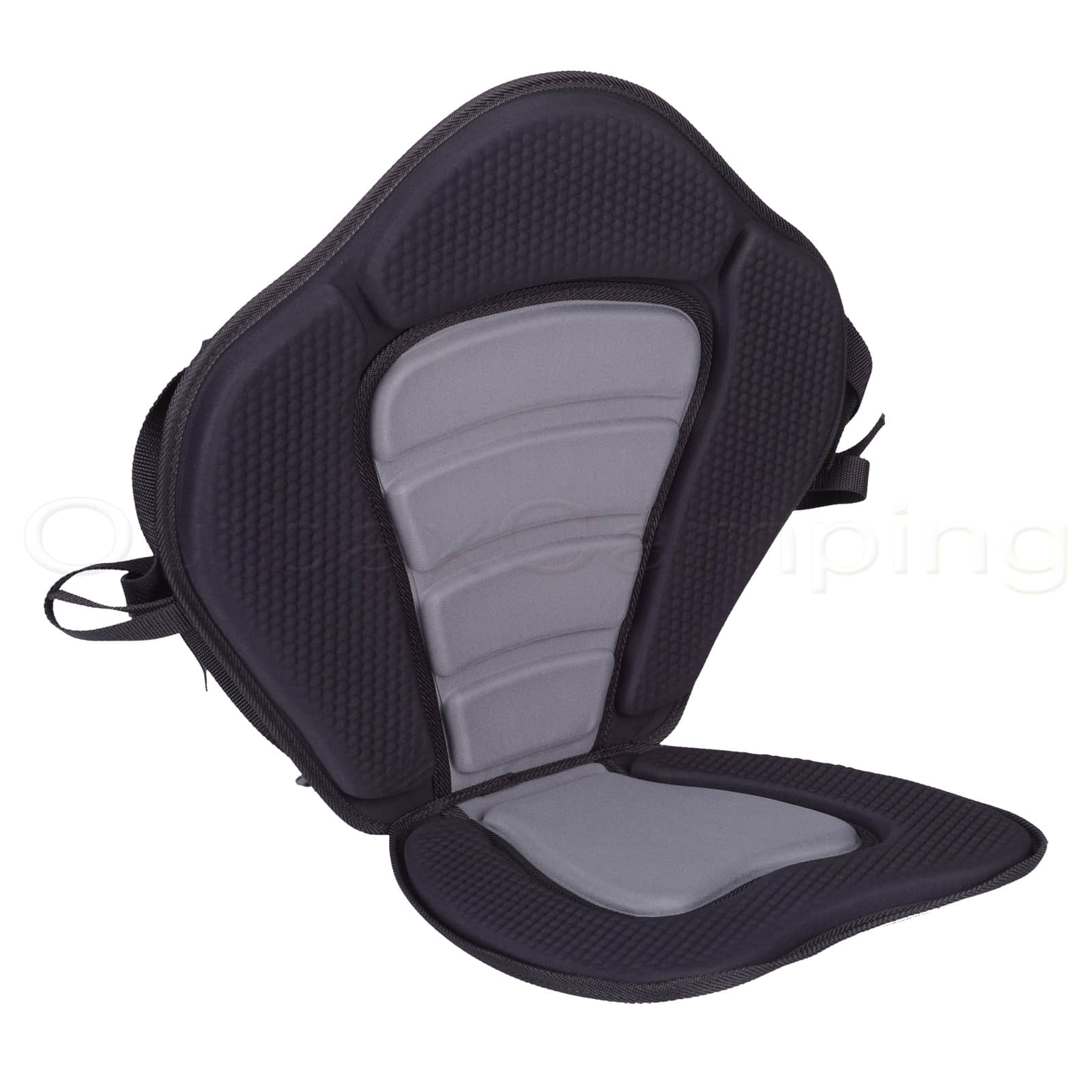 NEW Deluxe Kayak Canoe Fishing Backrest Seat Adjustable Padded Black