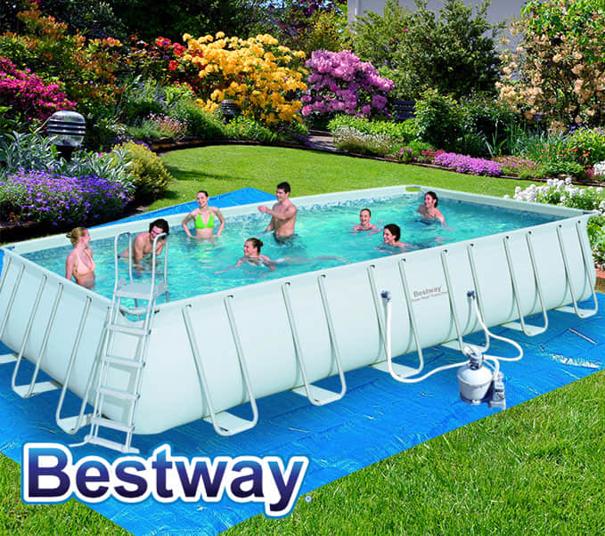 Bestway above ground rectangular swimming pool steel pro for Best above ground pools australia