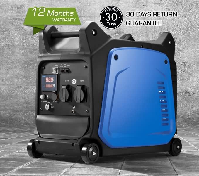 GenaMax 4.4kVA Pure Sine Wave Inverter Generator Silent Portable Petrol Camping