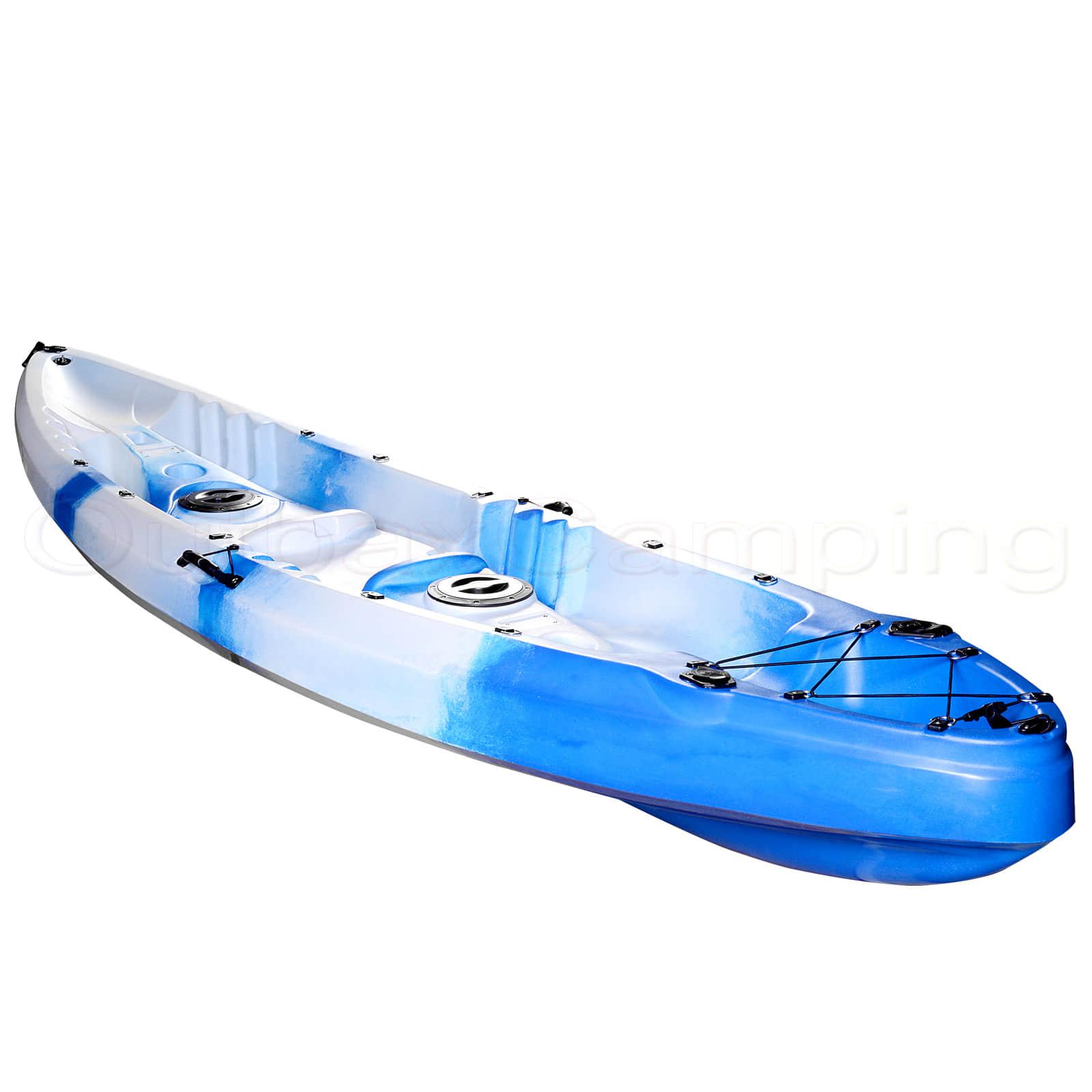 Double pacific fishing kayak sit on rod holders canoe camo for Double fishing kayak