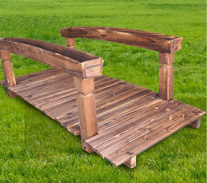 NEW Wooden Garden Bridge Classic Design Walkway Lawn Plant