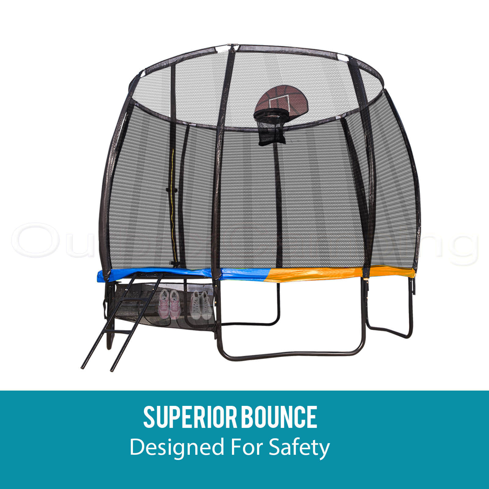 10FT Round Spring Trampoline Free Safety Net Pad Cover Mat