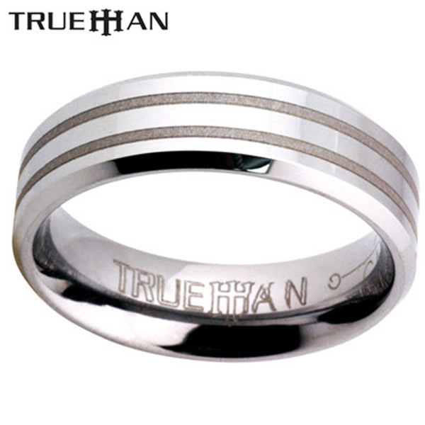 New-Groovy-Tungsten-Carbide-Band-Mens-Ring-Size-W-1-2-11-5-81054WX