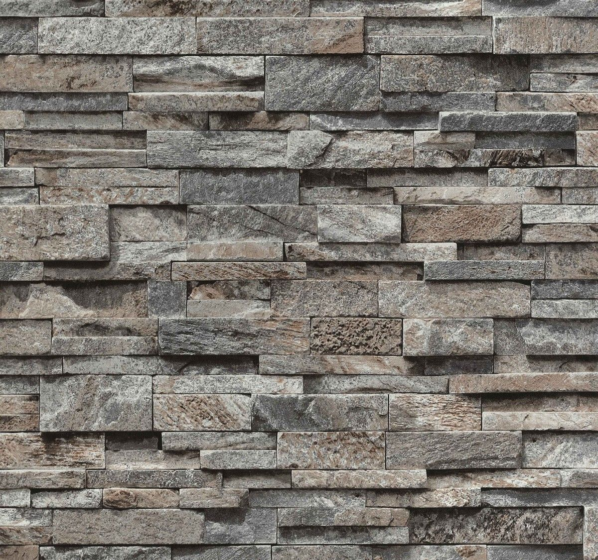 Brick effect wallpaper vinyl 3d slate stone split face for Black 3d brick wallpaper