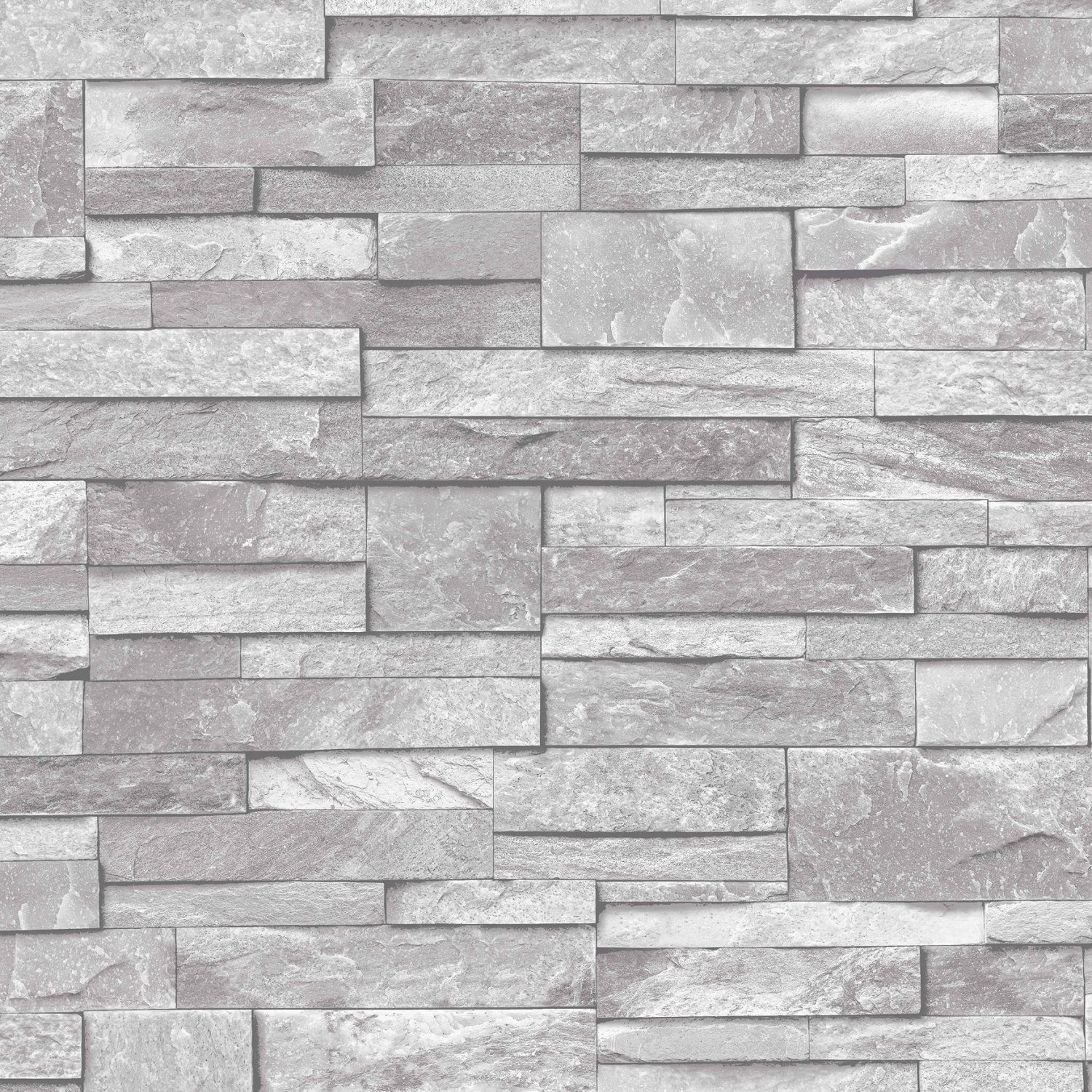 3d slate stone brick effect wallpaper washable vinyl