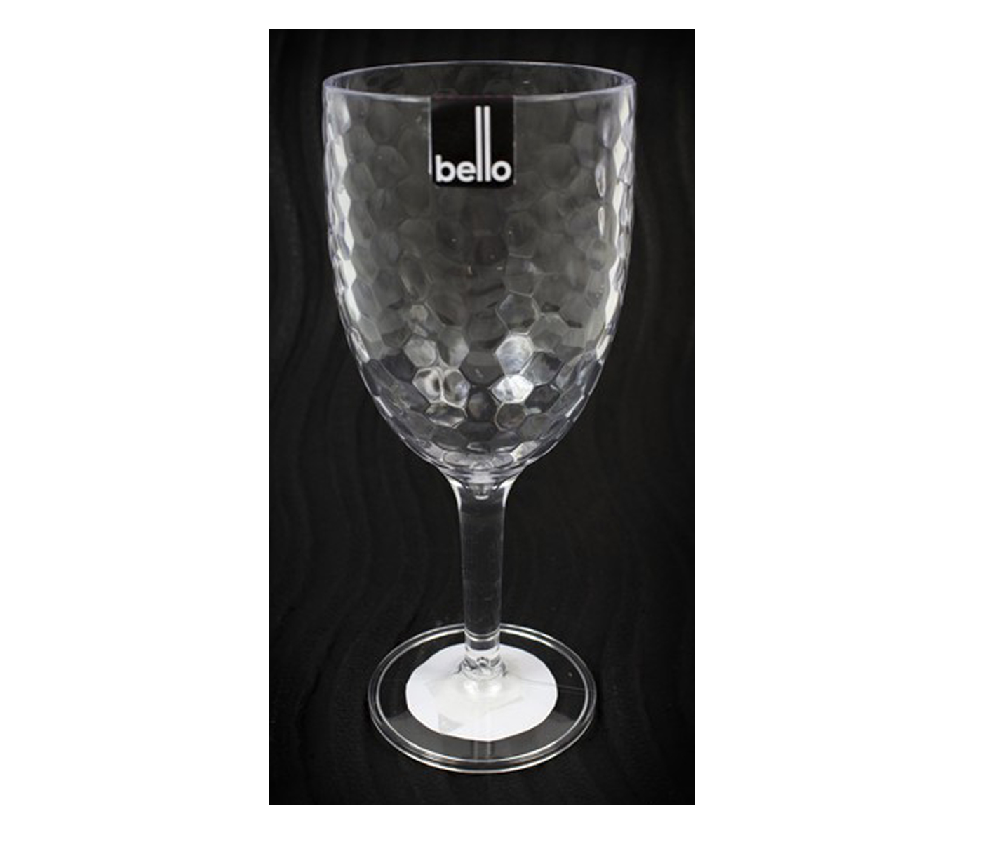 Bello Pack Of 2 High Quality Plastic Wine Goblet Dimple