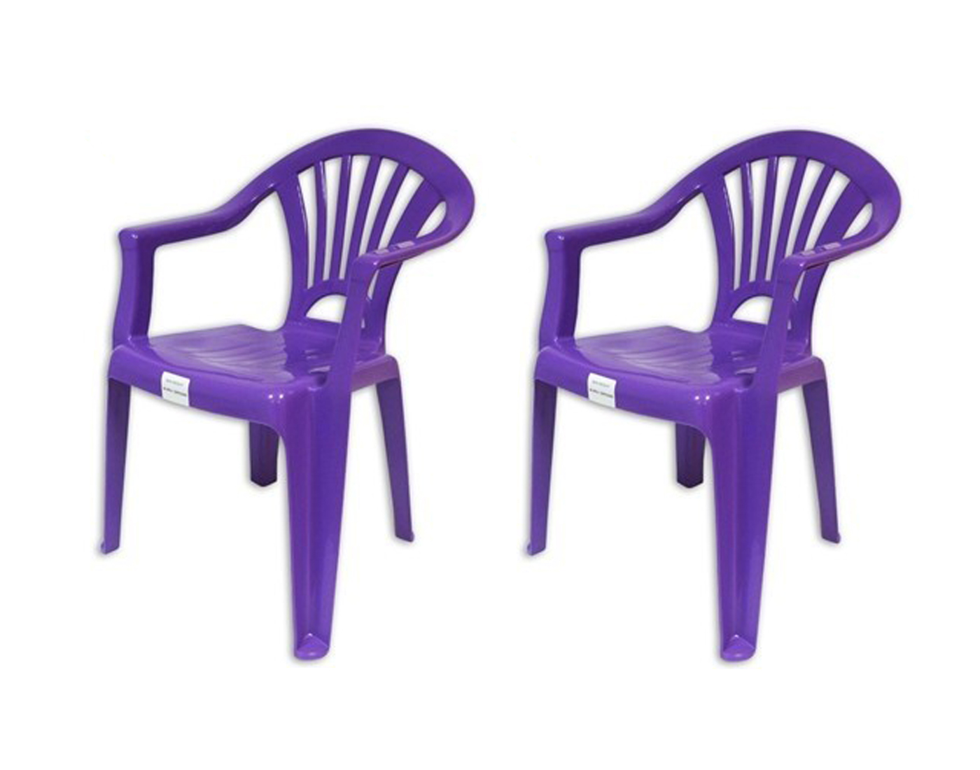 Plastic chairs stackable kids indoor or outdoor use purple for Kids plastic chairs