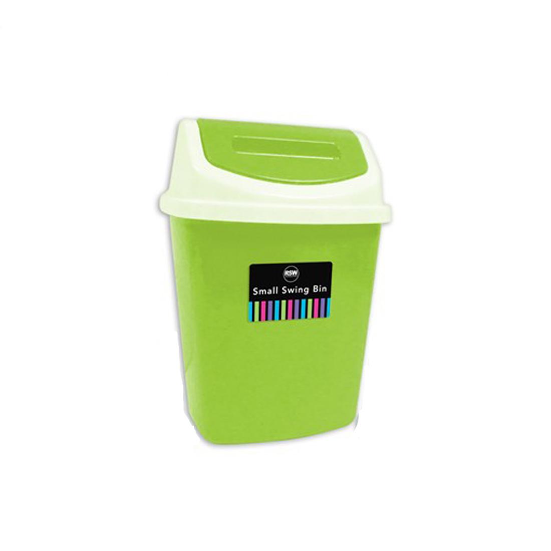 Swing bin plastic 5l capacity ideal for bathroom bedroom for Green bathroom bin