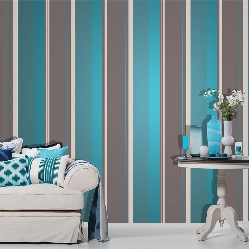 Blue stripe wallpaper ebay - Item Specifics