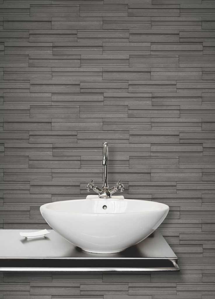 Ceramica Slate Tile Brick Effect Wallpaper In 4 Colours By Fine Decor EBay