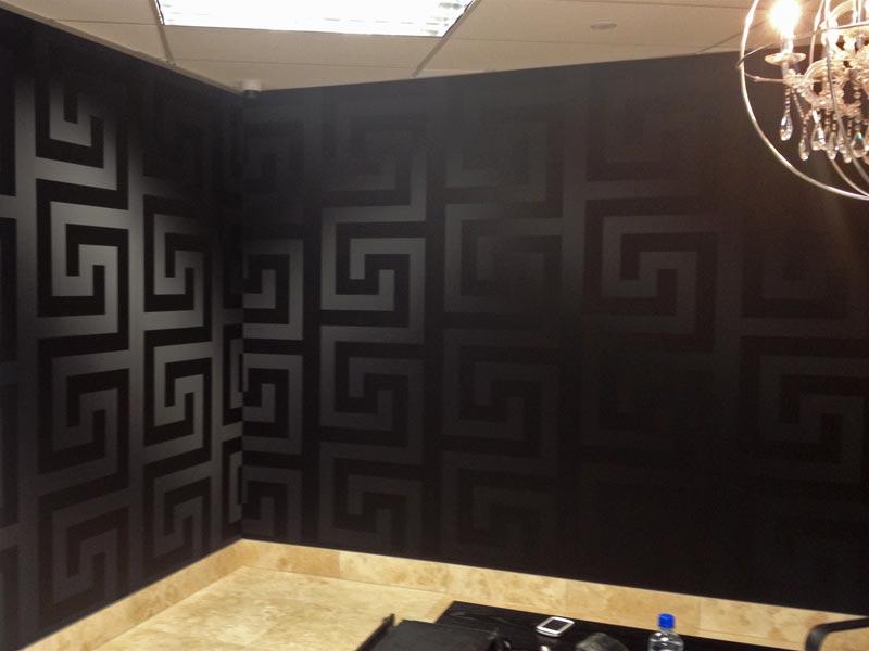 versace wallpaper border gold black luxury satin modern. Black Bedroom Furniture Sets. Home Design Ideas