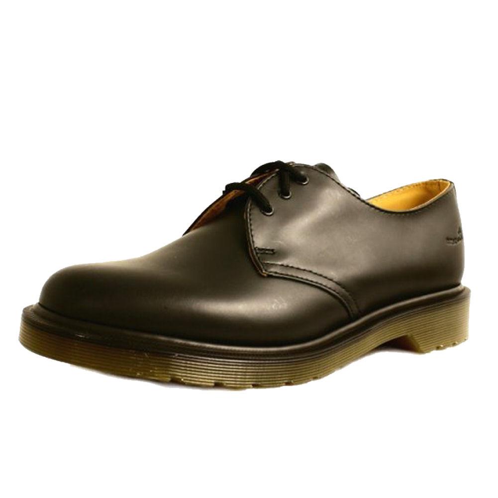 mans black doc dr marten airwair classic 1461 shoe 8 13