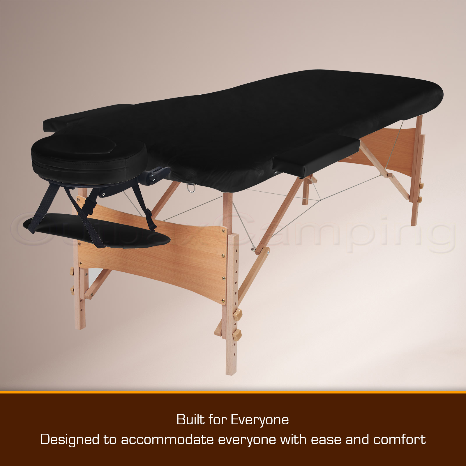 New relaxpro portable wooden massage bed folding table for Foldable beauty table