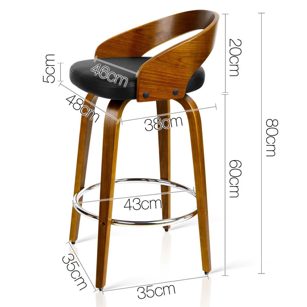 NEW 2 x Wooden Bar Stools PU Leather Seat Chrome Finish  : nm ba tw 8565 bkx2 abb from www.ebay.com.au size 1000 x 1000 jpeg 93kB