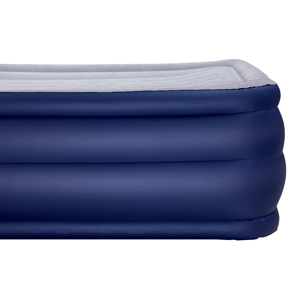 Bestway Queen Inflatable Air Mattress Bed w Air Pump Blue