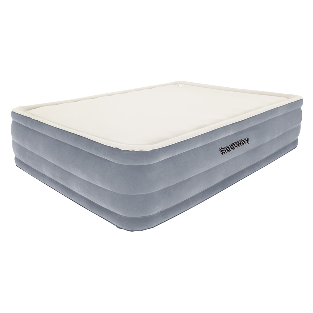 Bestway Queen Inflatable Air Mattress Bed W Built In Electric Pump Grey Ebay