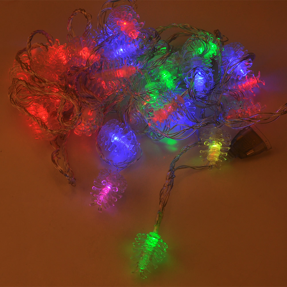 String Lights That Twinkle : Pinecone Style 7M 30 LED Multicolor Twinkle String Lights for Christmas Party eBay
