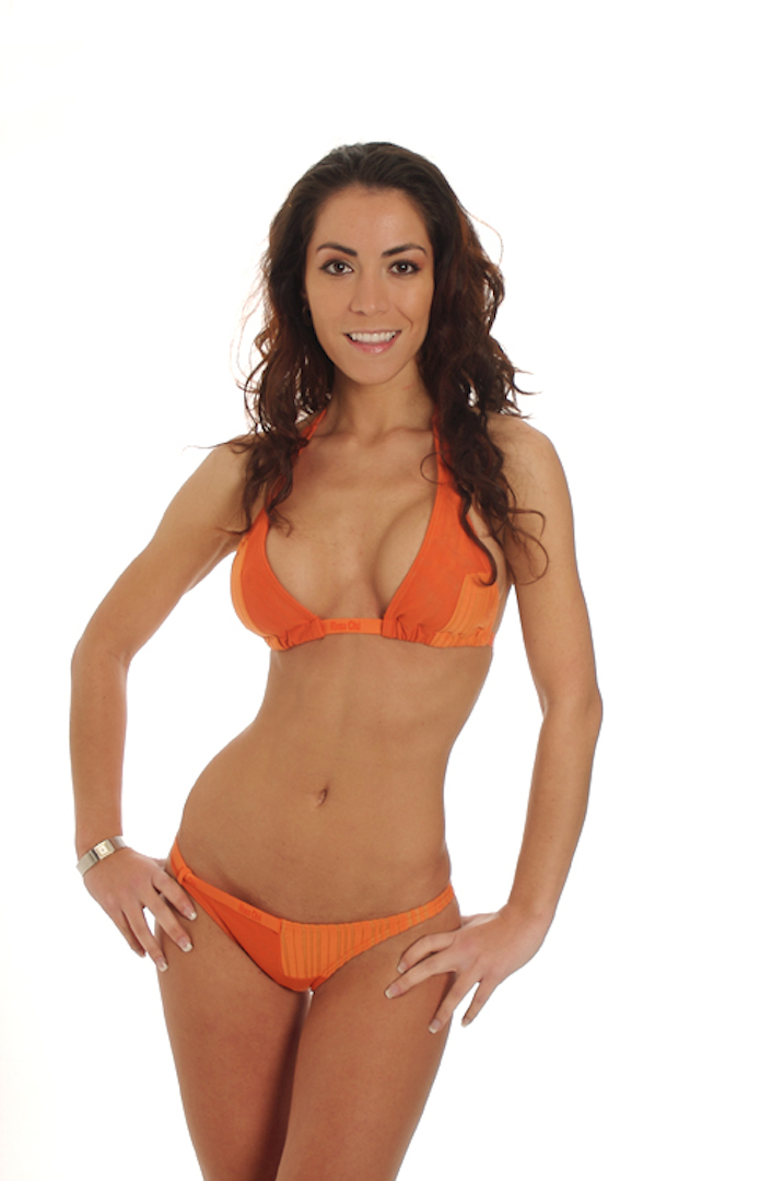 Empujar a cuadros arriba del bikini sujetador en Rosa