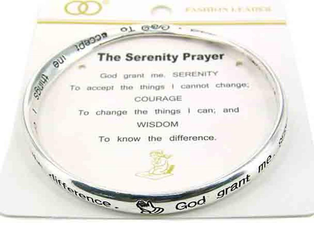 "Jewels Silvertone ""The Serenity Prayer"" Bangle Bracelet Fashion Jewelry at Sears.com"