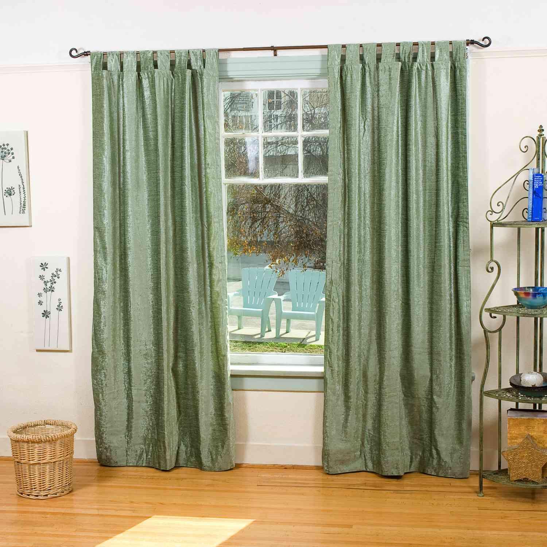 Velvet curtain club - Indian Sari Curtains Olive Green Tab Top Velvet Curtain Drape Panel Piece Indian Selections
