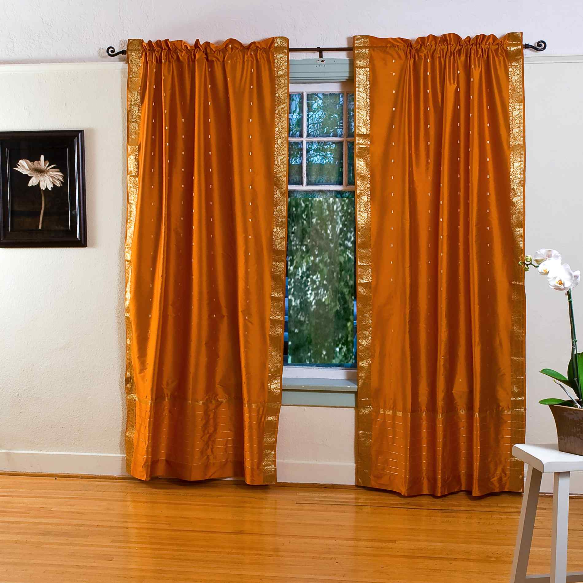 Mustard yellow curtains