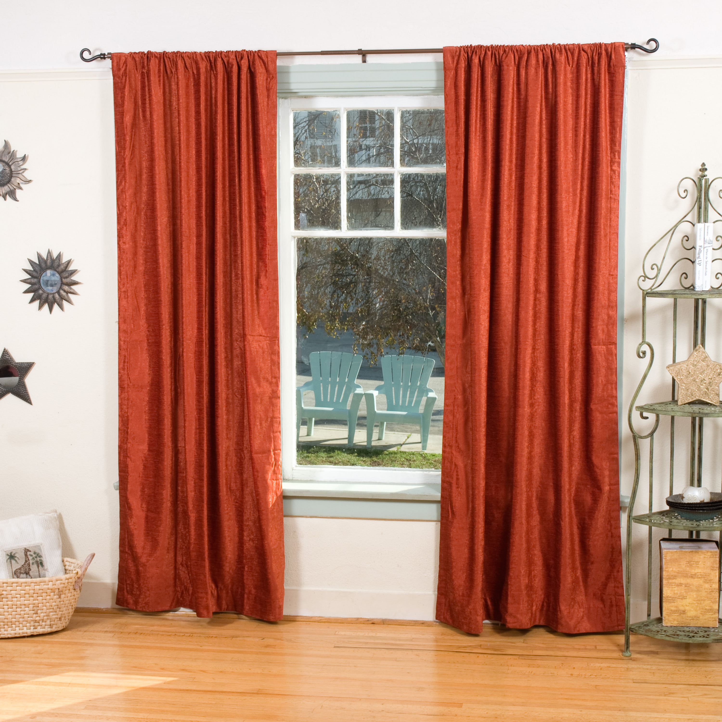 Rust Rod Pocket Velvet Curtain Drape Panel Piece Ebay