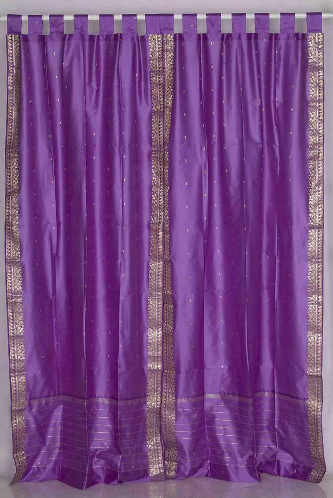 Lavender Tab Top Sheer Sari Curtain Drape Panel Piece Ebay