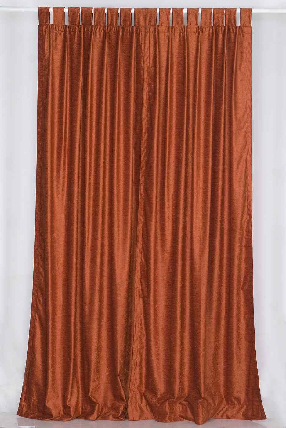 Rust Tab Top Velvet Curtain Drape Panel Piece Ebay