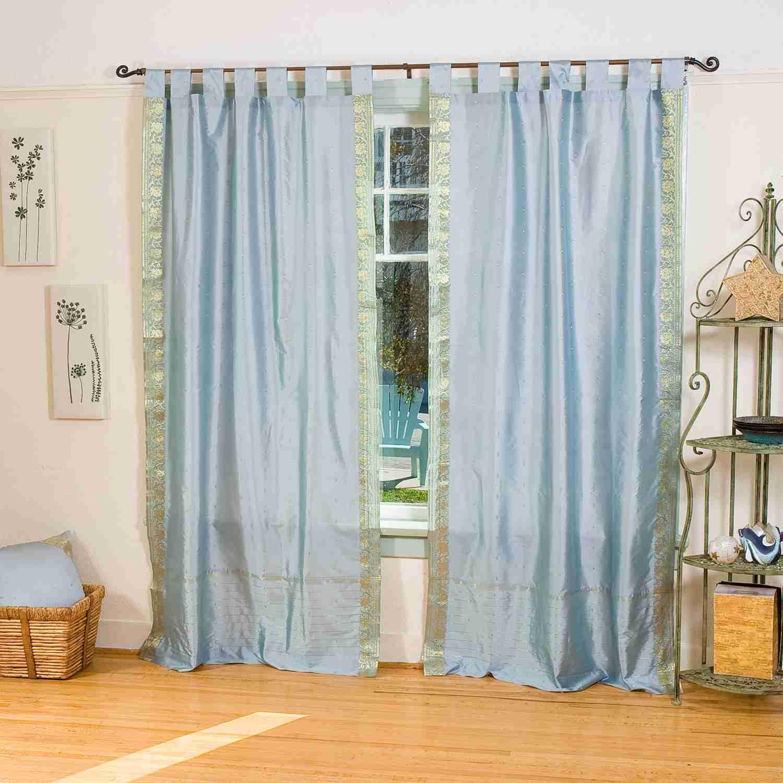 Gray Tab Top Sheer Sari Curtain Drape Panel 43w X 84l Piece Ebay