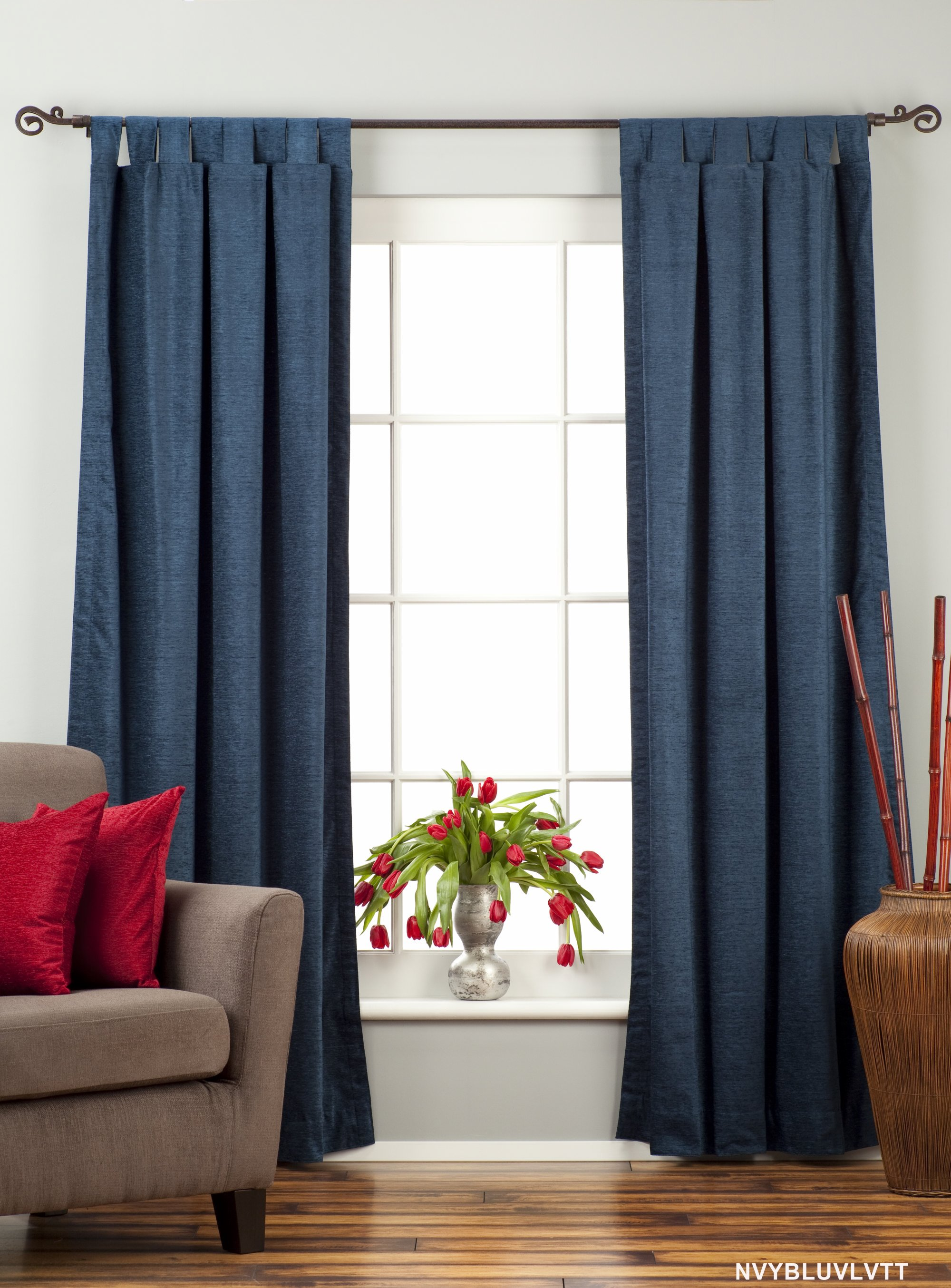 Drapes Curtains Blue House Home