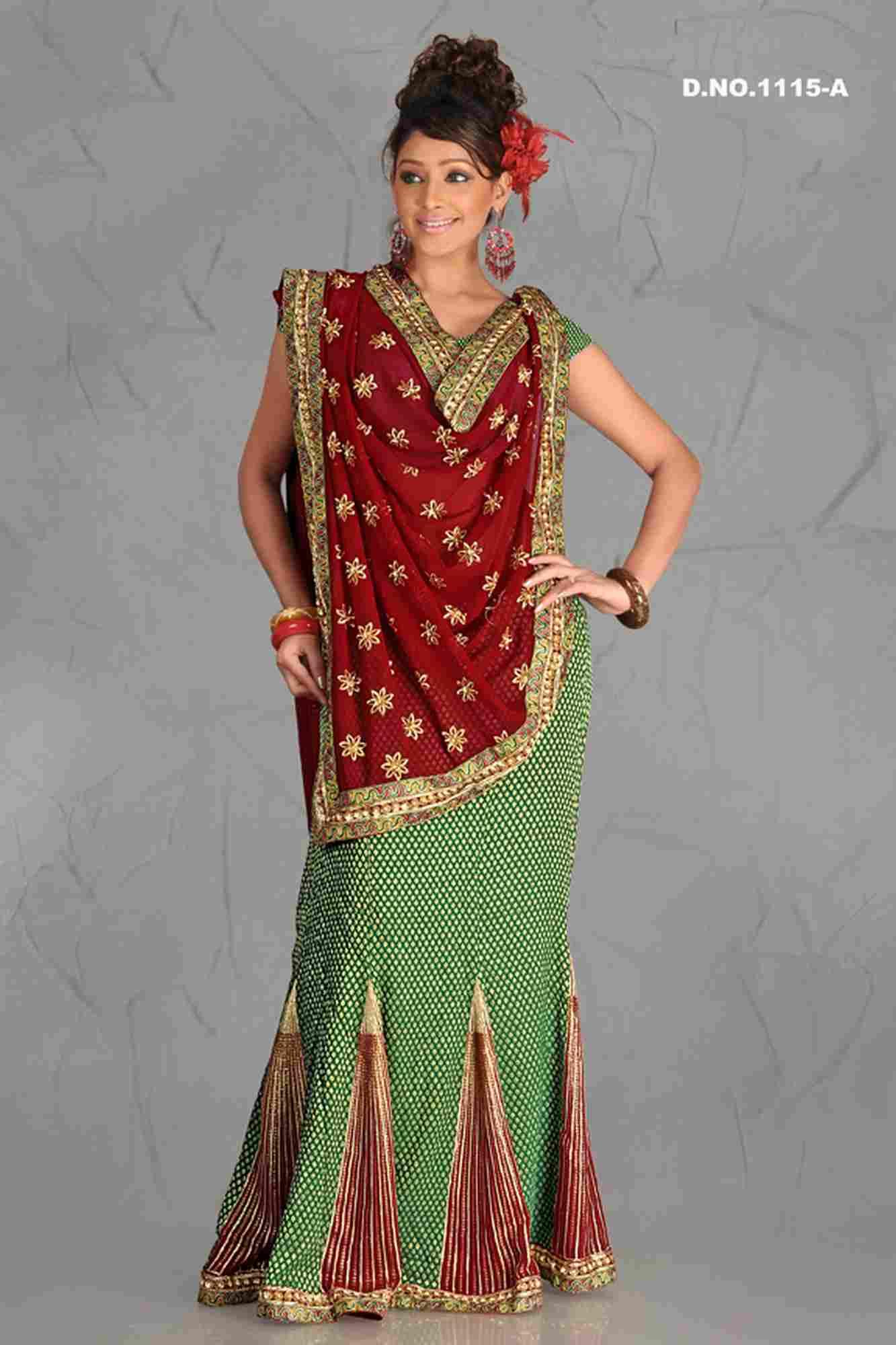 Archana Trend Setter Lehenga Choli Style Georgette Sari  Saree