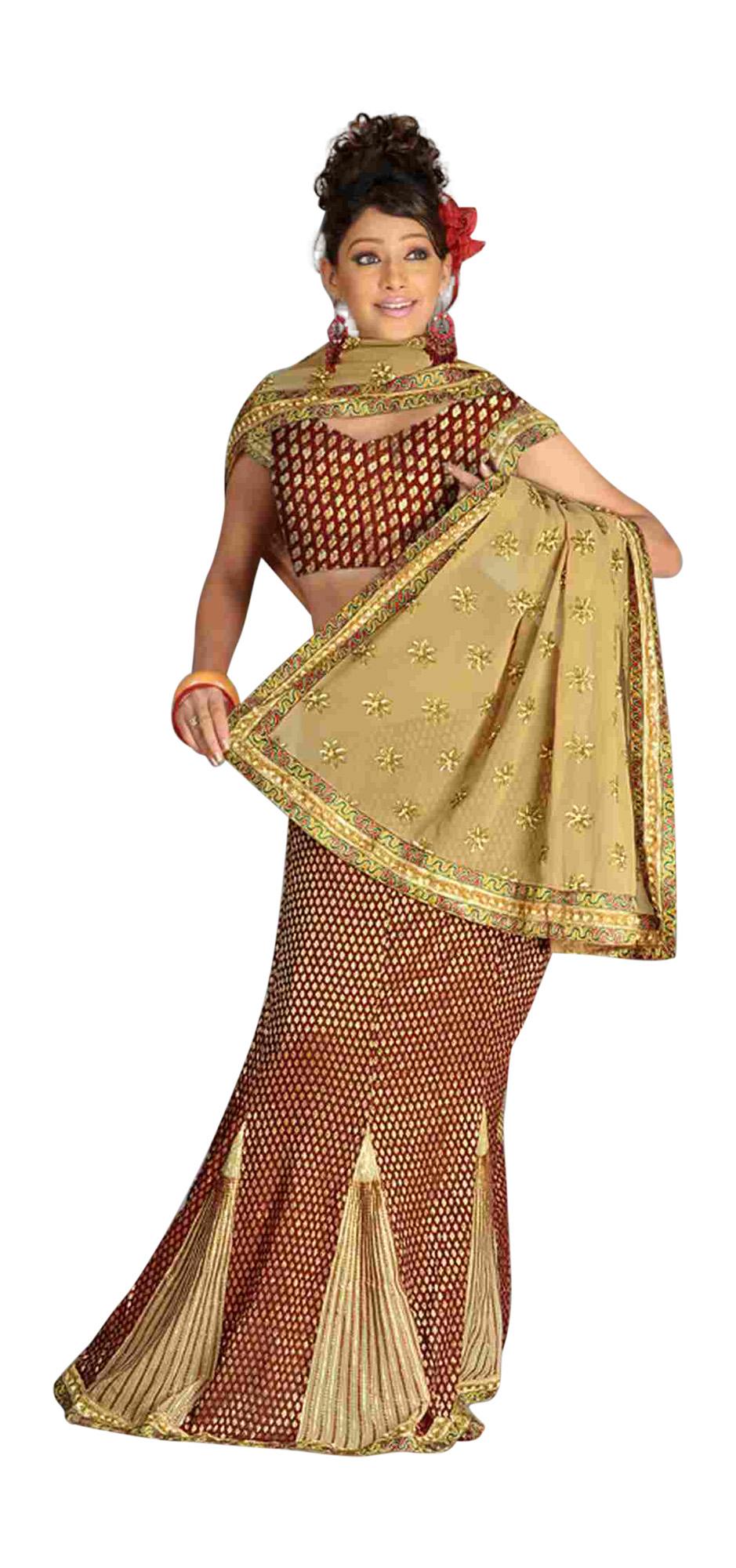 Arpana Trend Setter Lehenga Choli Style Georgette Sari  Saree