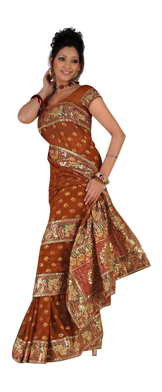 Akshata Mustard  Georgette Wedding Function Sari saree