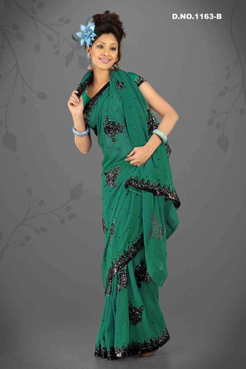Alisha Rama   Georgette Designer Party Wear Sari saree