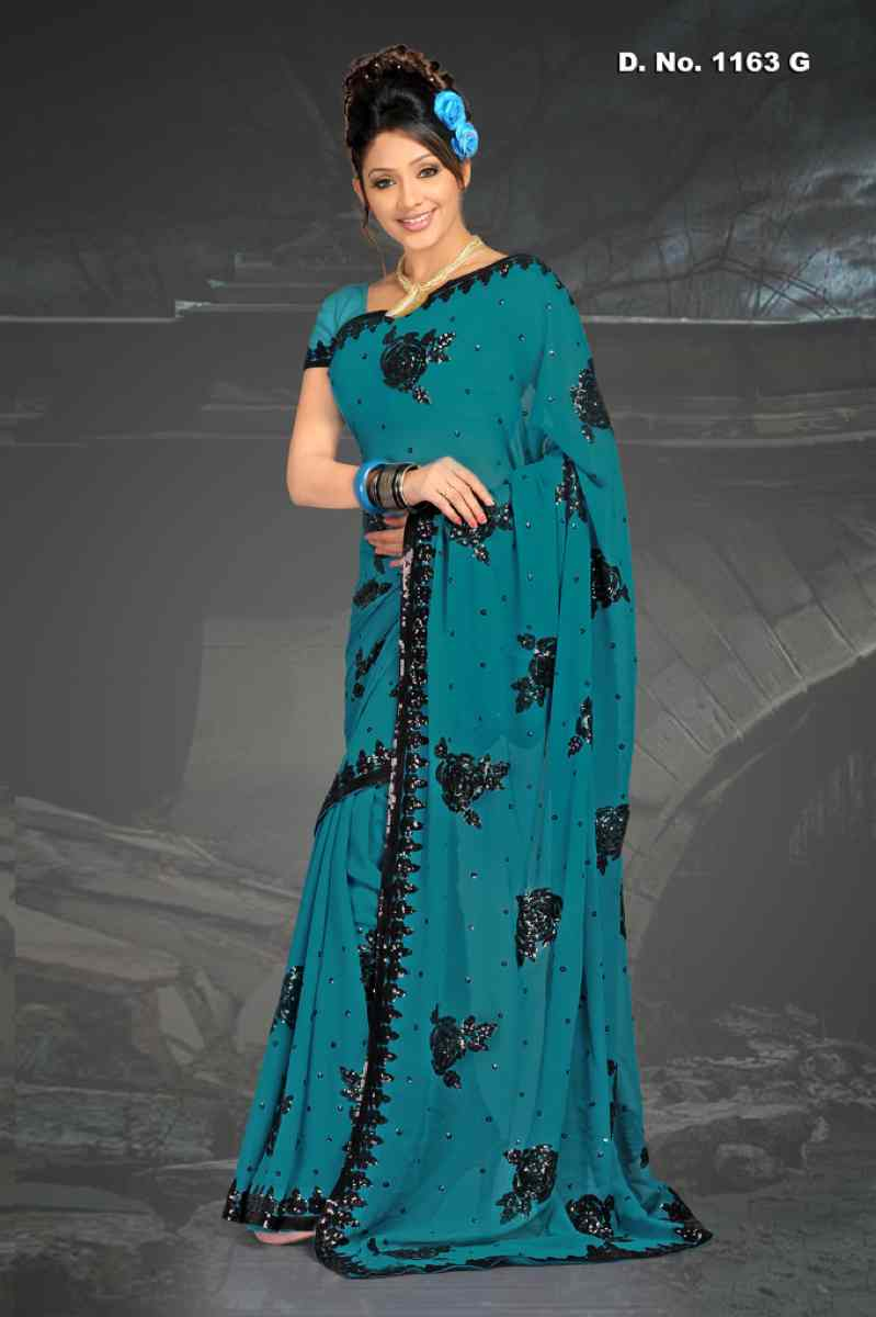 Alpa Firozi  Georgette Designer Party Wear Sari saree