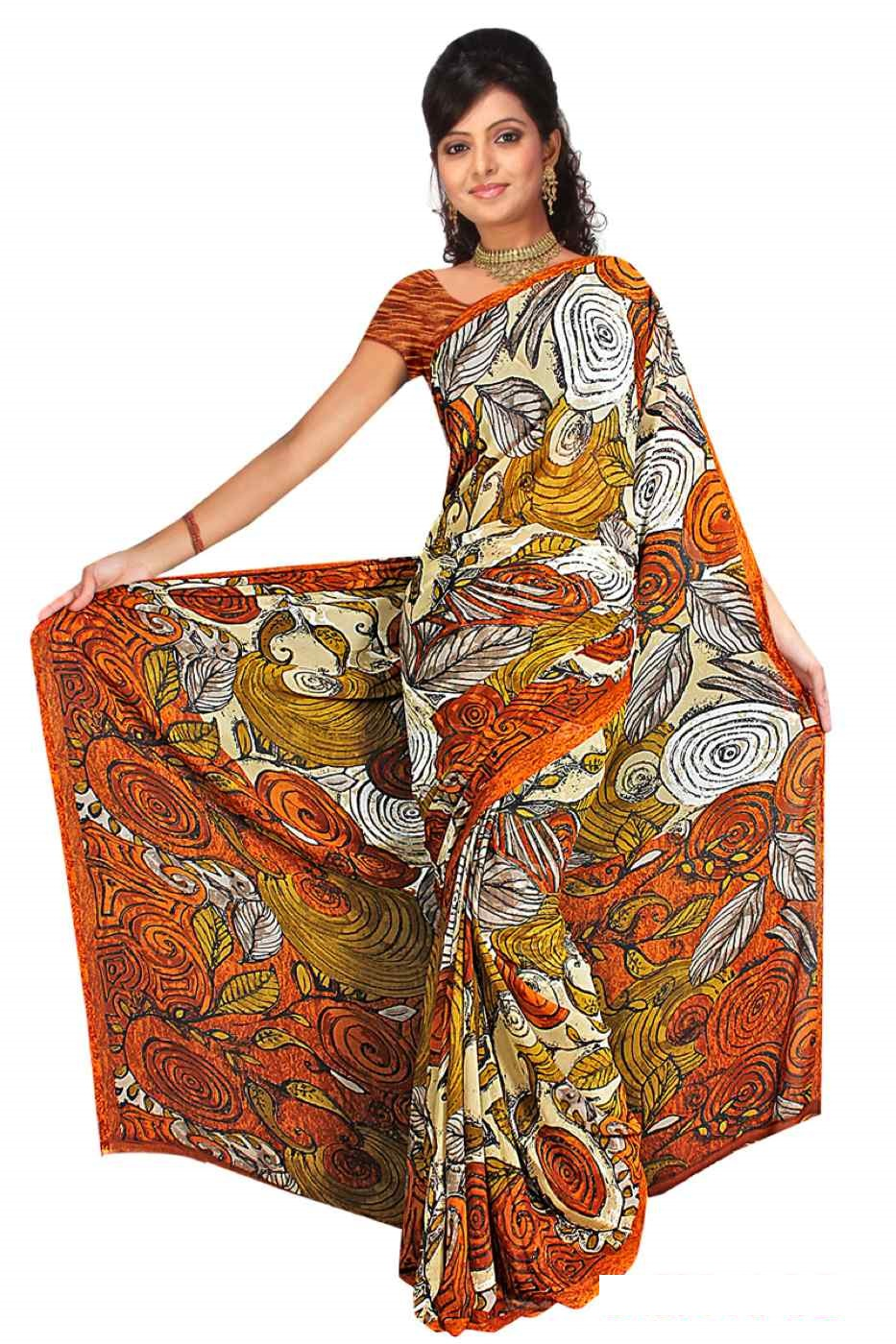 Diya Georgette Printed Casual Saree Sari Bellydance fabric