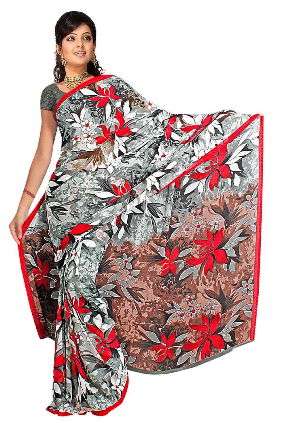 Devanshi Georgette Printed Casual Saree Sari Bellydance fabric