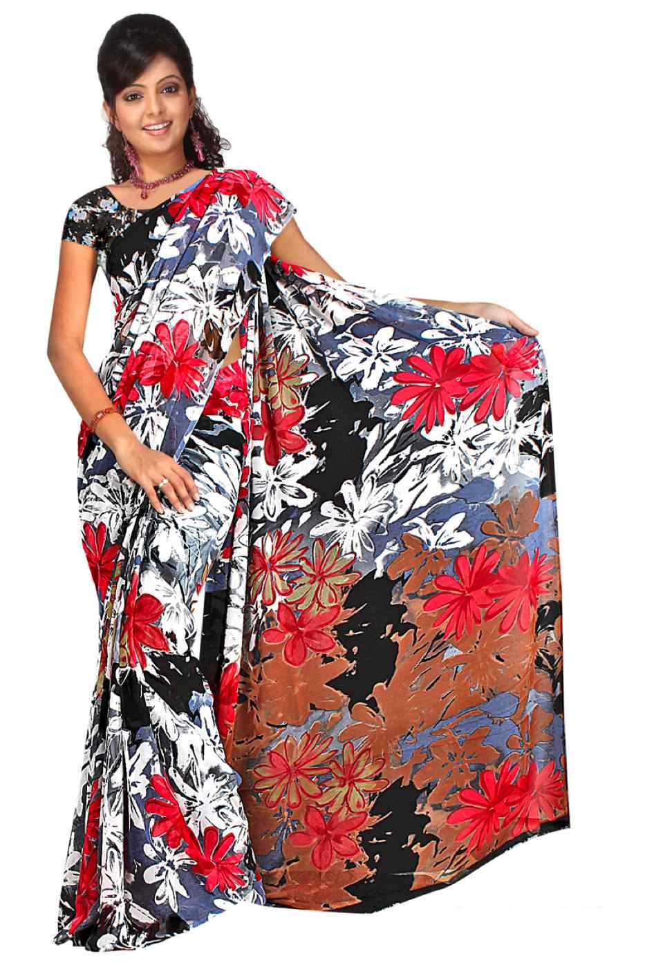 Chashmum Georgette Printed Casual Saree Sari Bellydance fabric