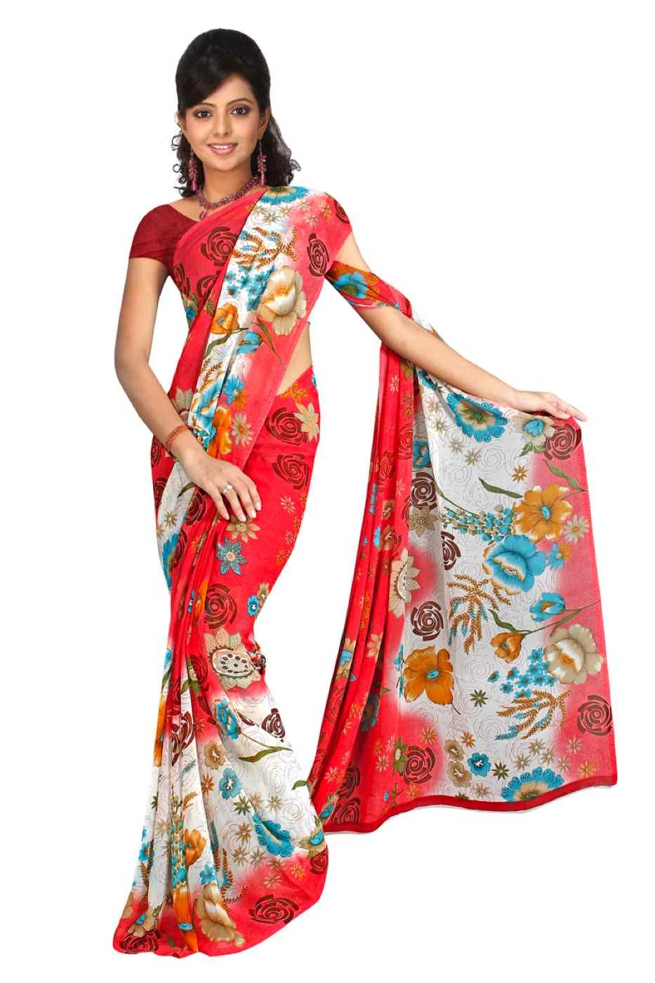 Champa Georgette Printed Casual Saree Sari Bellydance fabric