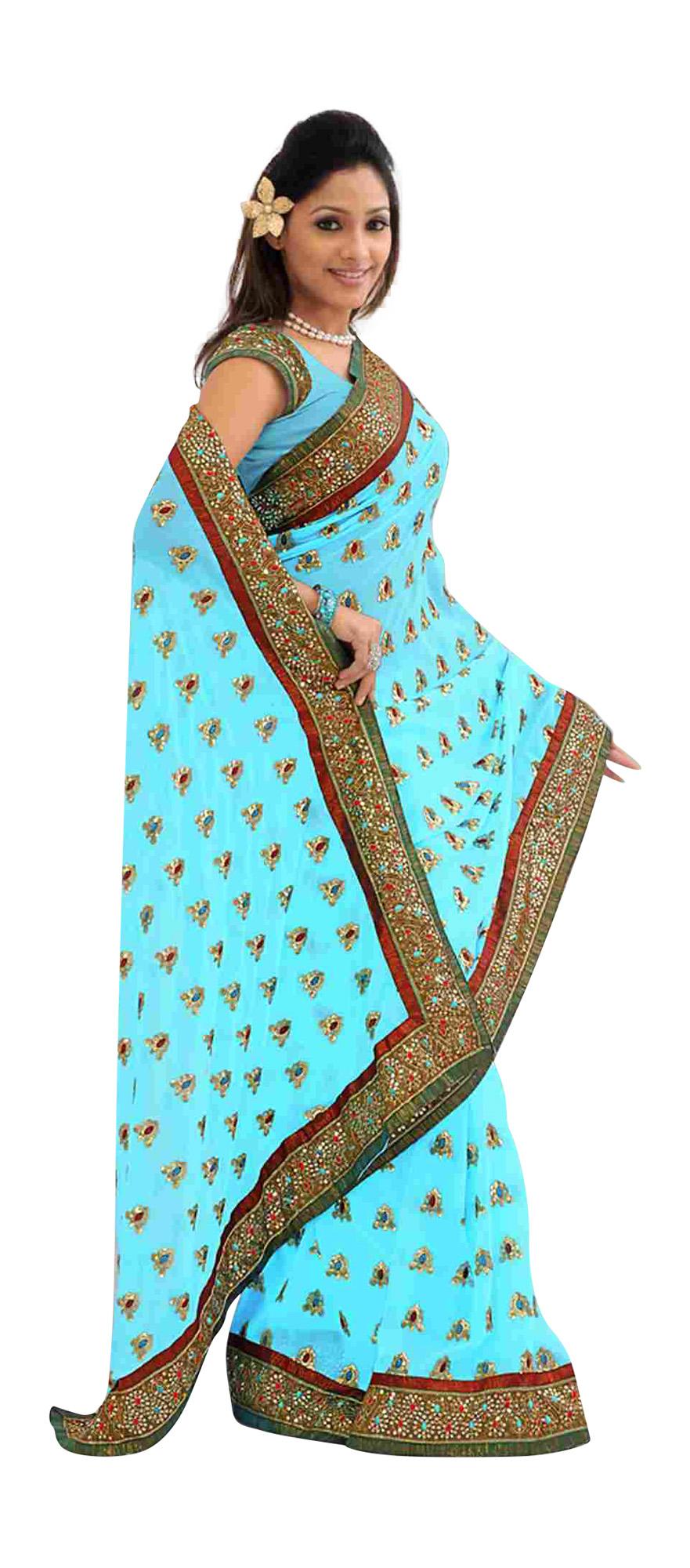 Ashlesha Festival Wear Georgette Sari  Saree