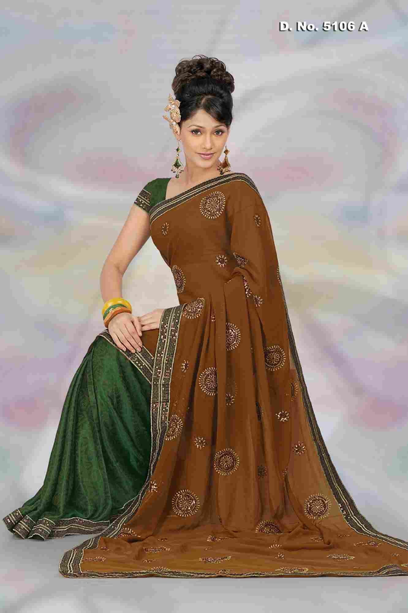 Indian Selections Aswathi Party Wear Georgette Sari  Saree at Sears.com