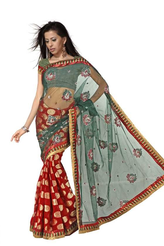 Barsha  Georgette Indian Sari saree with Embroidery