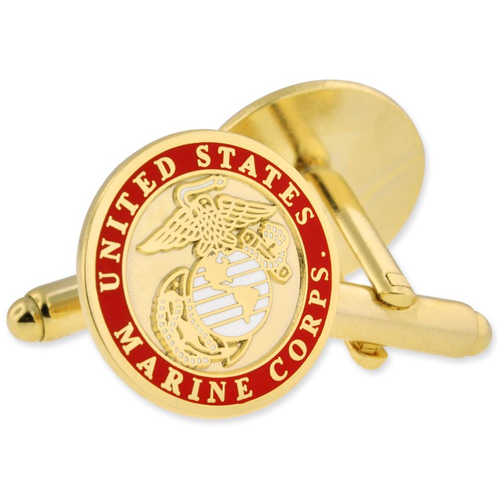 Pinmart militaire de U.S.M.C Marine Corps Boutons De Manchette Set-Or ou Argent