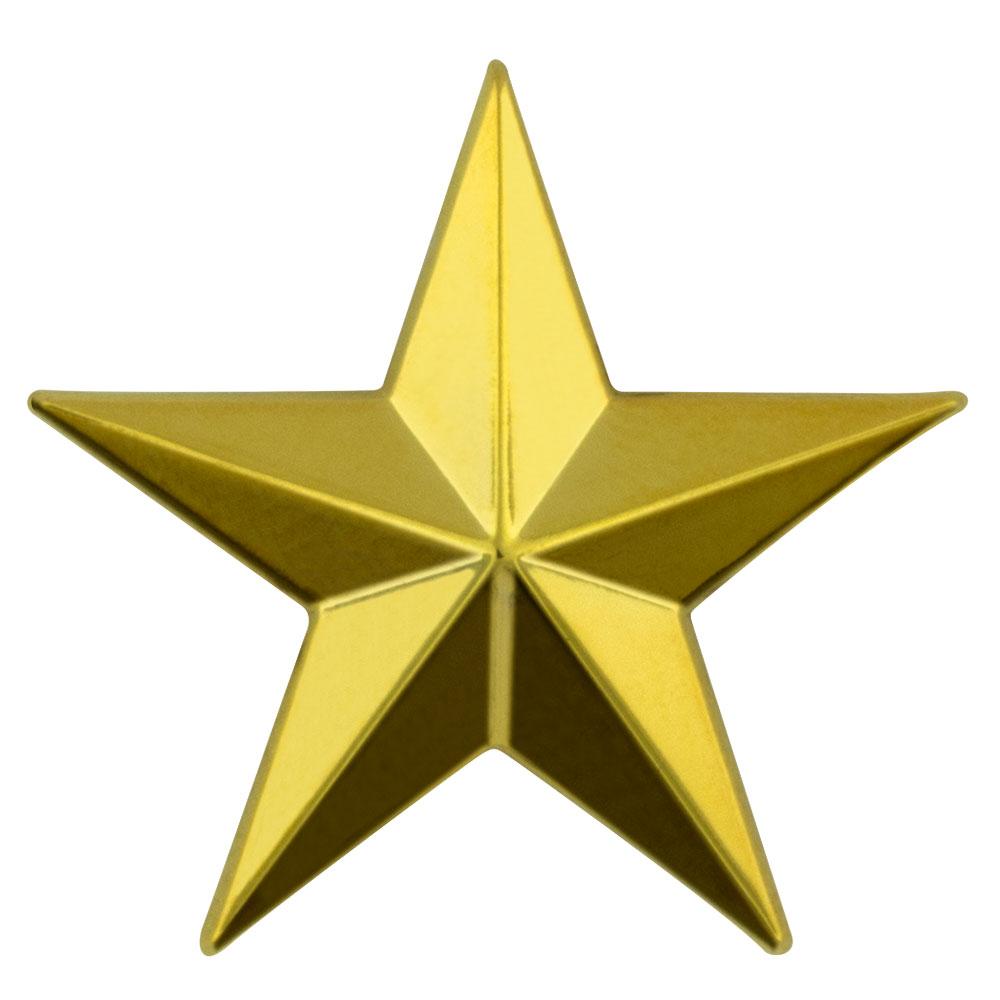 3d 5 point gold star lapel pin ebay for 3d star net